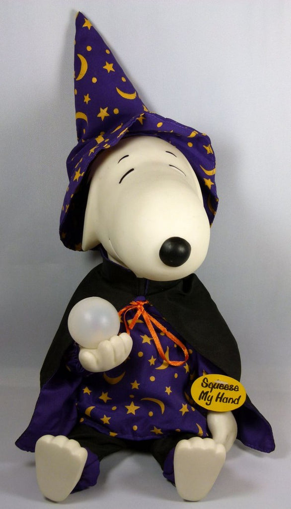 Snoopy Sorcerer Music and Animated Halloween Rubber Doll