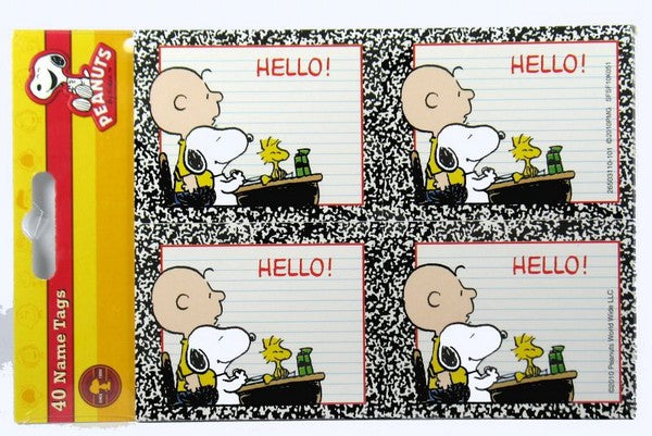Snoopy Student Name Tags