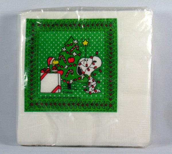 Snoopy Christmas Luncheon / Dessert Napkins