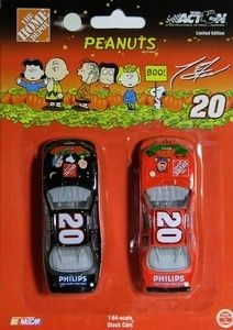 2-PACK TONY STEWART PEANUTS HALLOWEEN STOCK CARS