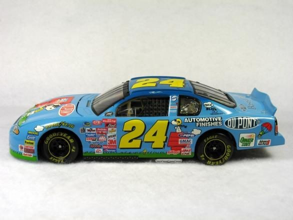 JEFF GORDON PEANUTS 50TH ANNIV. STOCK CAR BANK