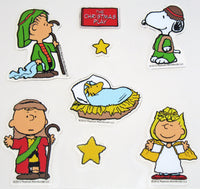 8-Piece Peanuts Christmas Nativity Jelz Window Clings - SPECIAL LOW PRICE!