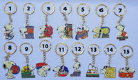 Snoopy NBA (National Basketball Assoc.) Metal Key Chain