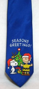 CHARLIE BROWN AND SNOOPY REVERSIBLE CHRISTMAS Neck Tie (FREE GIFT BOX!)