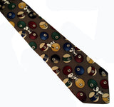Joe Cool Playing Pool Silk Necktie (FREE GIFT BOX!)