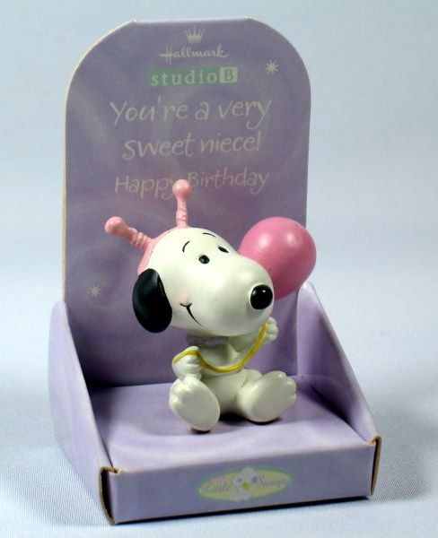 Little Snoopy Birthday Figurine - Niece