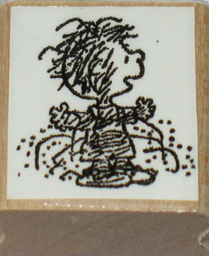 Pig Pen Rubber Stamp (*Re-Mounted New Stamp)