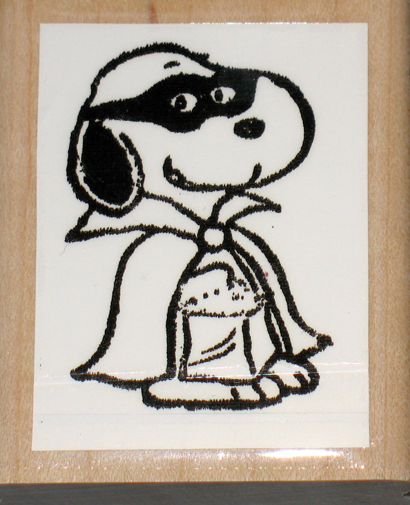 Snoopy Halloween Rubber Stamp (*Re-Mounted New Stamp)