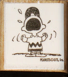 Charlie Brown Yelling Rubber Stamp (*Re-Mounted New Stamp)