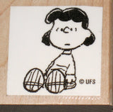 Lucy Sitting Rubber Stamp (*Re-Mounted New Stamp)