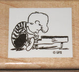 Schroeder Rubber Stamp (*Re-Mounted New Stamp)