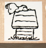 Snoopy's Doghouse Rubber Stamp (*Re-Mounted New Stamp)
