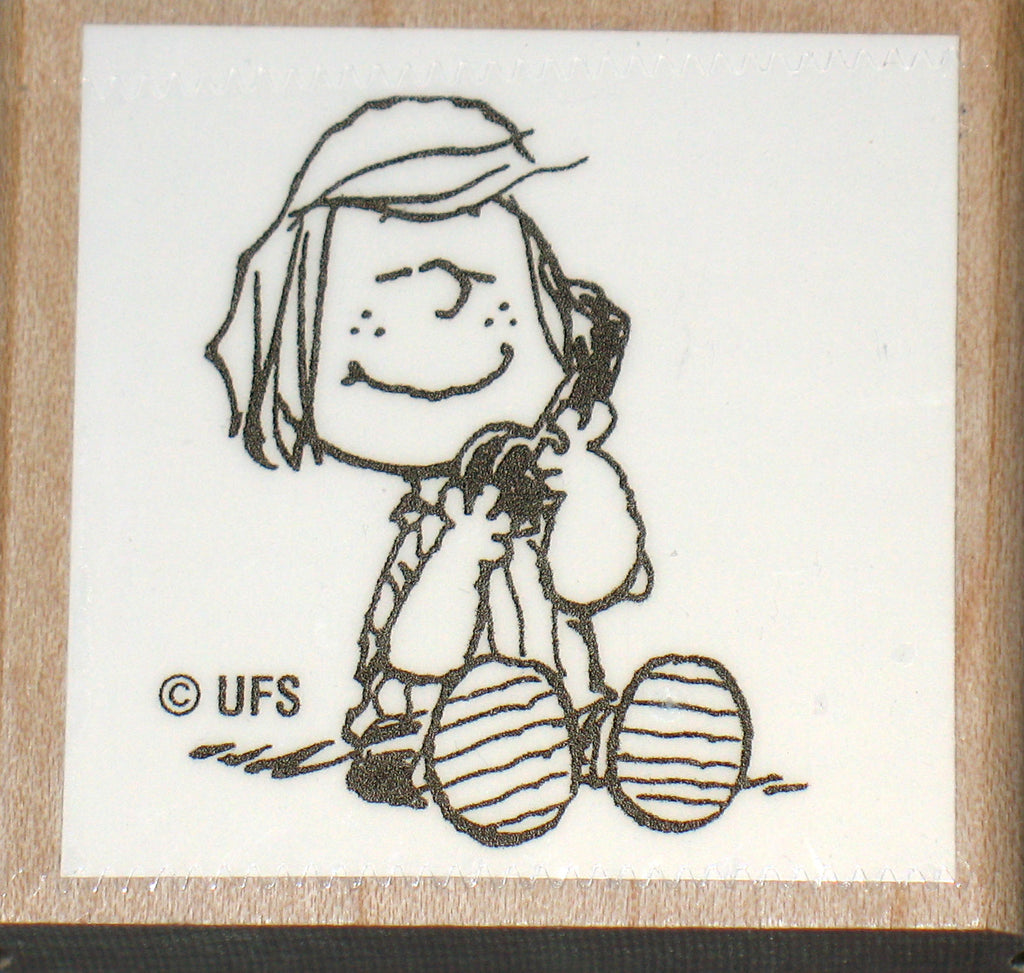 Peppermint Patty Rubber Stamp (*Re-Mounted New Stamp)