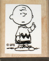 Charlie Brown Rubber Stamp (*Re-Mounted New Stamp)