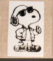 Joe Cool Rubber Stamp (*Re-Mounted New Stamp)