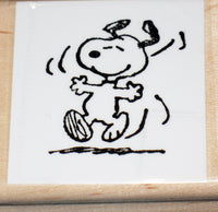 Happy Snoopy Rubber Stamp (*Re-Mounted New Stamp)