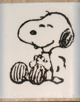 Giggling Snoopy Rubber Stamp (*Re-Mounted New Stamp)