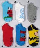Kids Peanuts No Show Socks (7/12-3 1/2)