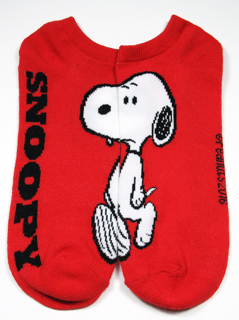 Men's Peanuts Gang Matching No Show Socks - Snoopy