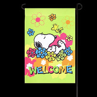 NON-VINTAGE FLAG - FLORAL WELCOME