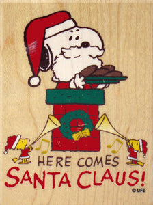 """Here Comes Santa Claus"" RUBBER STAMP"