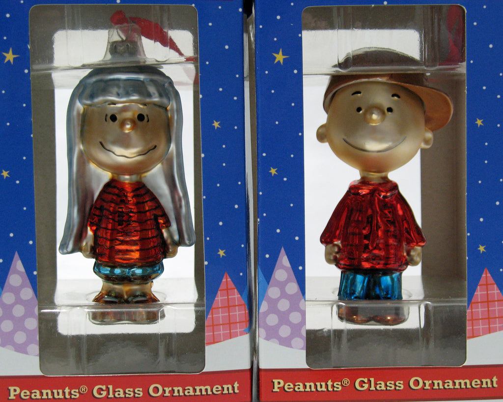 Peanuts Polonaise-Style Glass Christmas Ornament