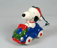 1979 Transportation Series Christmas Ornament - Snoopy's Blue Convertible