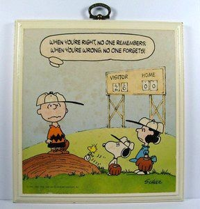 When You're Right No One Remembers, When Wrong No One Forgets! Wood Plaque