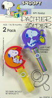 Snoopy Pacifier Holder Set