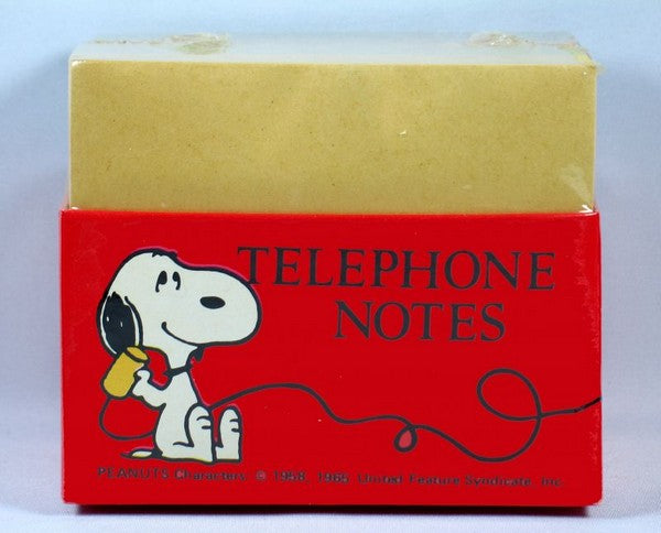 "Snoopy ""Telephone Notes"" Block Of Paper"