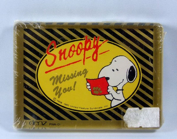 Snoopy Acrylic Paperweight - Missing You!