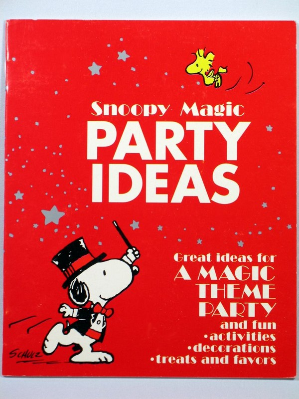 Snoopy Magic Party Ideas Booklet