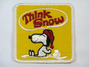 """THINK SNOW"" SNOOPY PATCH - YELLOW"