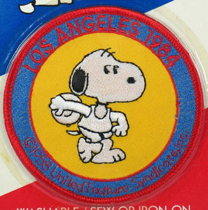 1984 LOS ANGELES OLYMPICS PATCH - SNOOPY DISCUS THROWER
