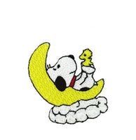 BABY SNOOPY AND WOODSTOCK ON MOON PATCH