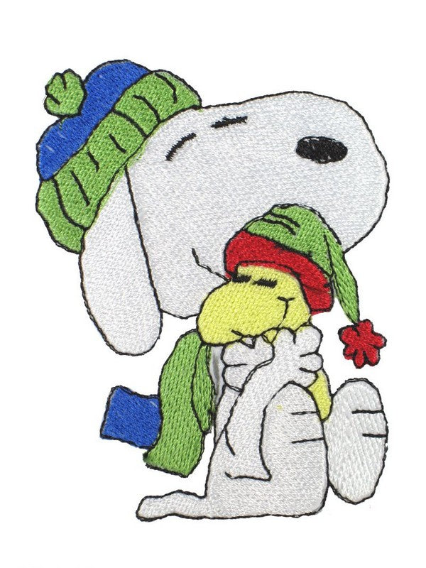 SNOOPY AND WOODSTOCK HUG PATCH