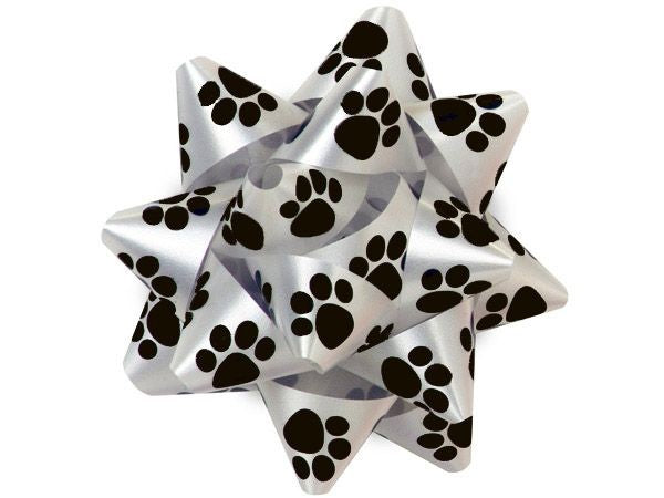 Paw Prints Gift Bow - Large