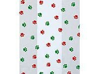 Paw Prints Cello Treat Bags - Holiday Colors