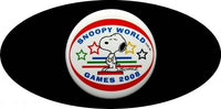 2008 OLYMPICS PINBACK BUTTON - Snoopy
