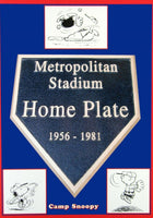 Metropolitan Stadium Home Plate Post Card