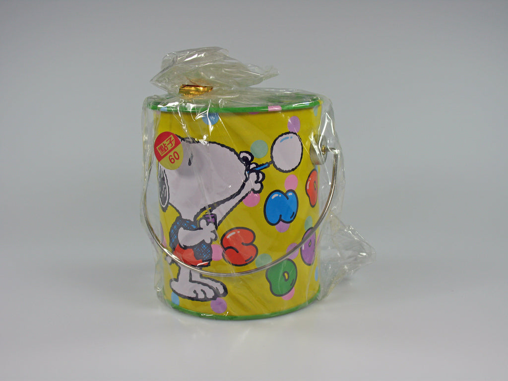SNOOPY PAINT CAN TIN Bank - Painter