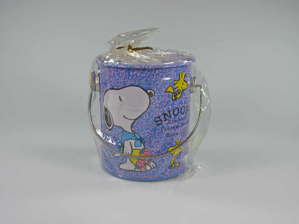 SNOOPY PAINT CAN TIN BANK - Favorite Beagle