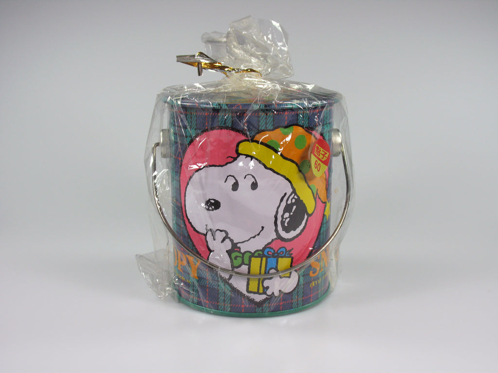 SNOOPY PAINT CAN TIN Bank - Snoopy's Gift