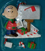 ADLER CHARLIE BROWN AT MAILBOX ORNAMENT