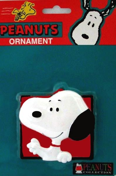 ADLER SNOOPY FACE ORNAMENT
