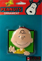 ADLER CHARLIE BROWN FACE ORNAMENT