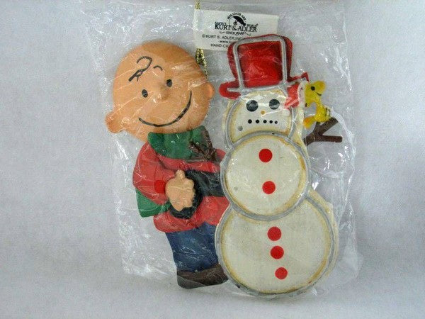 ADLER TIN CHARLIE BROWN ORNAMENT