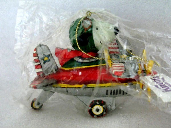 ADLER SNOOPY AIRPLANE ORNAMENT