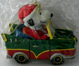 ADLER SNOOPY DRIVING CAR ORNAMENT