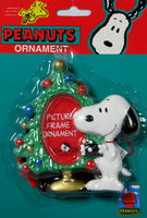 ADLER SNOOPY HOLDING CAMERA PICTURE FRAME ORNAMENT